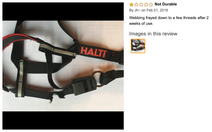 halti optifit dog head halter review