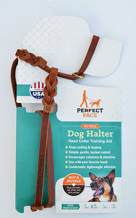 leather head halter for dogs